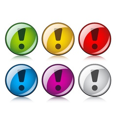Exclamation mark buttons vector