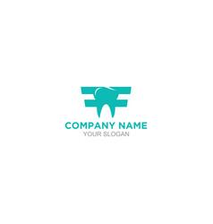 Ff dental logo design vector