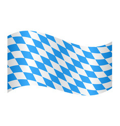 Flag of bavaria waving on white background vector
