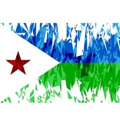 Flag of Djibouti vector