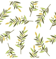 floral seamless pattern with branches of laurel vector image