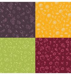 Fruit seamless texture vector
