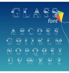 Glass font vector