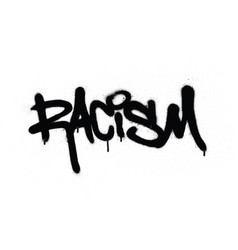 graffiti racism word sprayed in black over white vector image