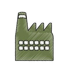 Green building factory vector