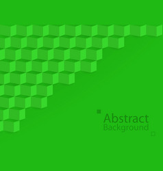 Green nature earth abstract background square 3d vector