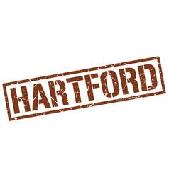 Hartford brown square stamp vector