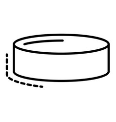 hockey puck icon outline style vector image