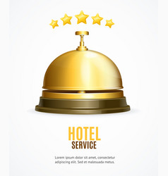 hotel reception service banner with realistic vector image
