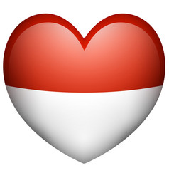 icon design for indonesia flag vector image
