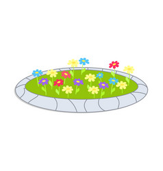 icon sepicting colorful flowerbed cartoon vector image