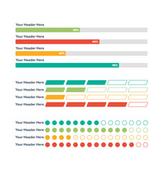 Infographic elements progress bar vector