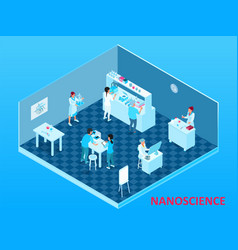 isometric nanotechnology composition vector image