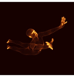 Jumping Man Graphics Composed of Particles vector