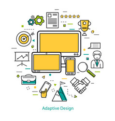 line art concept - adaptive design vector image