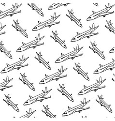 line travel airplane international transport vector image