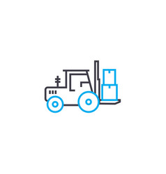 loading work linear icon concept loading work vector image