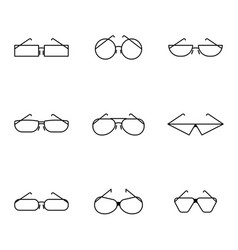 minimalistic image of icons of glasses of vector image