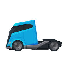 modern cargo truck blue heavy delivering vehicle vector image