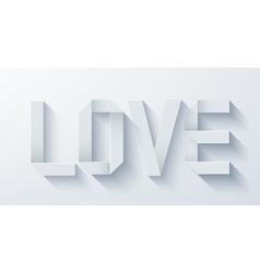 Modern love origami paper on light vector