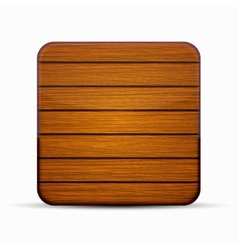 modern wooden icon on white vector image