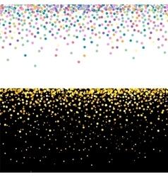 Multicolor and golden confetti banners vector