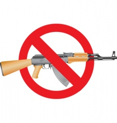 no guns vector image