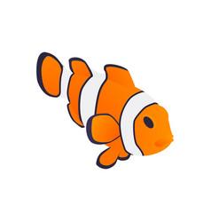 Ocean fish aquarium composition vector