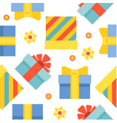 present gift box seamless pattern suitable for vector image