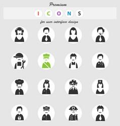 Profession icon set vector