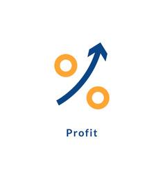 Profit growth icon chart arrow up success vector