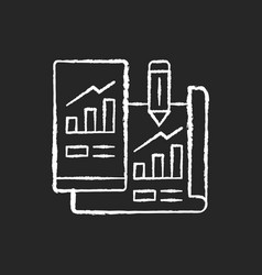 prototyping chalk white icon on black background vector image