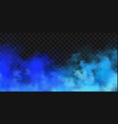 realistic blue colorful smoke clouds mist effect vector image