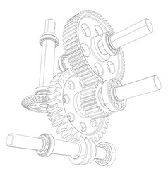 Reducer consisting of gears vector