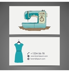 Retro sewing machine sketch for your design vector image