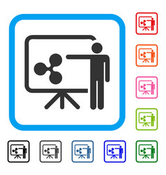 Ripple board presentation person framed icon vector