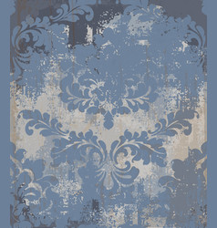 Rococo pattern texture damask ornament vector