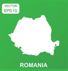Romania map icon business concept romania vector
