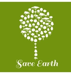 Save Earth Environmental ecology icon vector