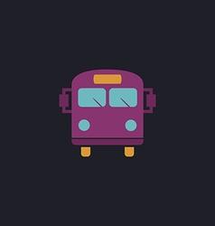 School Bus computer symbol vector image