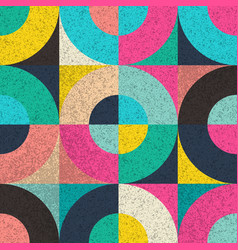 Seamless pattern with colorful geometric vector