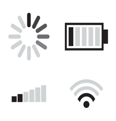 Set connection icons vector