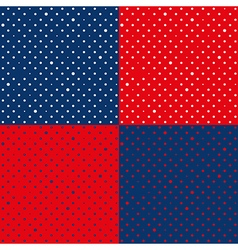 Set Navy Blue Red Star Polka dot vector