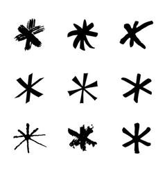 set of black stars vector image