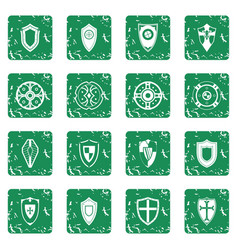 Shields set grunge vector