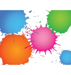 splatter ink vector image