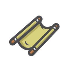 stretcher rescue evacuation icon cartoon vector image