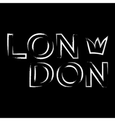 T shirt typography graphics london city crown vector