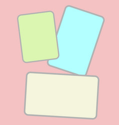 Three pastel colored paper for text vector