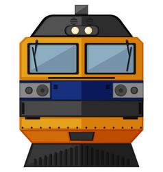 Train design in yellow color vector